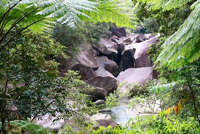 Babinda Boulders. Babinda, Queensland, Australië.
