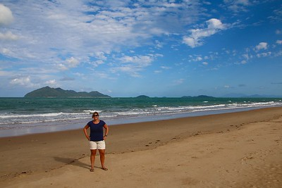 Dunk Island view @ Wongaling Beach. Mission Beach, Queensland, Australië.