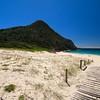 Tomaree Head @ Zenith Beach.<br /> Port Stephens, New South Wales, Australië.