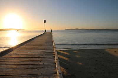 Sunset @ Nelson Bay. Port Stephens, New South Wales, Australië.