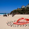 Sculpture by the Sea from Bondi Beach to Tamarama Beach.<br /> Tamara Beach, Sydney, New South Wales, Australië.
