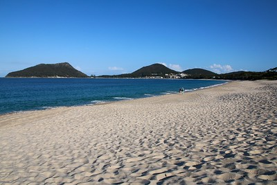 Shoal Beach.  Port Stephens, New South Wales, Australië.