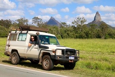 Glass House Mountains National Park.  Sunshine Coast Hinterland, Queensland, Australië.