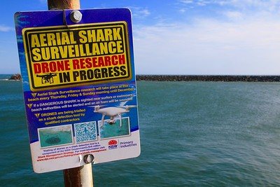 Shark surveillance @ Ballina. Ballina, New South Wales, Australië.