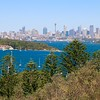 Overlooking Sydney Skyline from South Head.<br /> Sydney, New South Wales, Australië.
