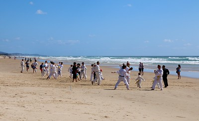 Karate @ Coolum Beach. Sunshine Coast, Queensland, Australië.