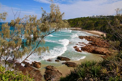 First Bay, Coolum Beach. Sunshine Coast, Queensland, Australië.