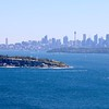 Overlooking Sydney Skyline from North Head.<br /> Sydney, New South Wales, Australië.