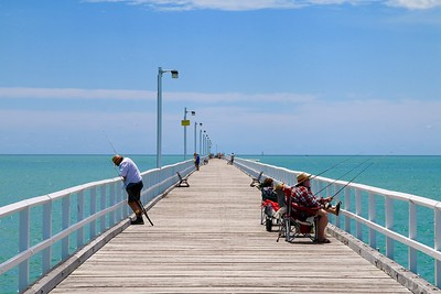 Urangan Pier @ Hervey Bay. Queensland, Australië.
