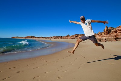 Uit de serie: 'Jump!' Barn Hill Beachside Station. The Kimberley, WA, Australië.