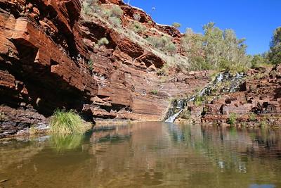 Fortescue Falls, Dales Gorge, Karijini NP, Pilbara. WA, Australië.