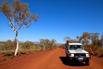 Weano Road, Karijini NP, Pilbara. WA, Australië.