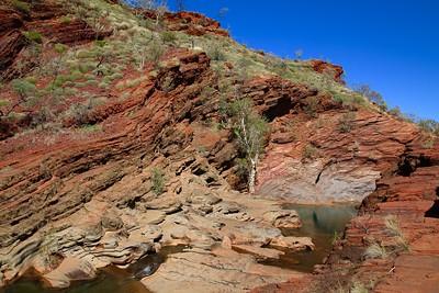 Hamersley Gorge, Karijini NP, Pilbara. WA, Australië.