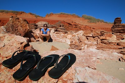 Solid footwear @ Barn Hill Beachside Station. The Kimberley, WA, Australië.