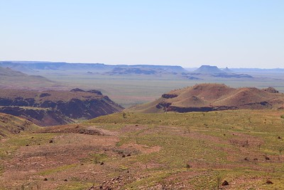 Chichester Range vanaf Mt. Herbert, Millstream Chichester NP. Pilbara, WA, Australië.