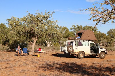 Free camping @ De Grey. Pilbara, WA, Australië.