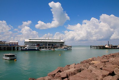 Stokes Hill Wharf. Darwin, Top End,  Northern Territory, Australië.