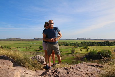 Just the 2 of us. Nadab Valley from Ubirr Rock @ Kakadu National Park. Top End,  Northern Territory, Australië.