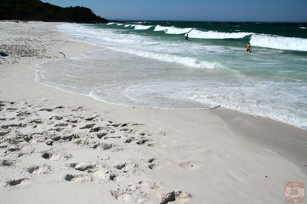 waves at Hyams Beach