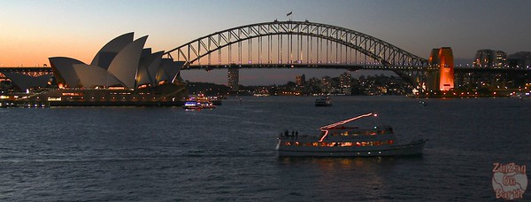 Photographing Sydney Opera house, sunset 2