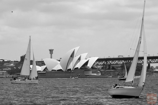 Photographing Sydney Opera house from ferry 2
