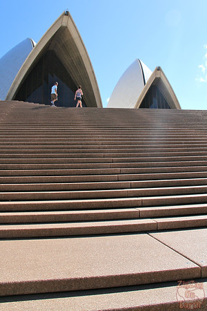 Photographing Sydney Opera house from opera stairs 1