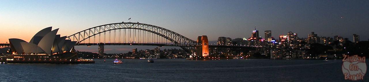 Sydney's skyline at night