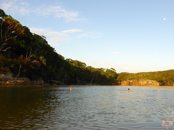 morning swim in Wattamolla lagoon, Royal National Park
