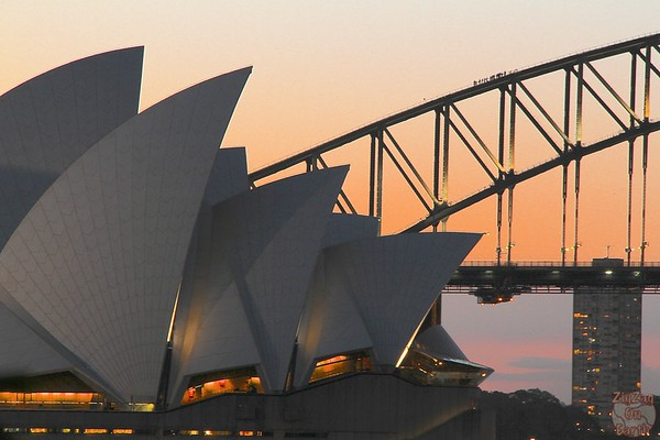 Photographing Sydney Opera house, sunset 1