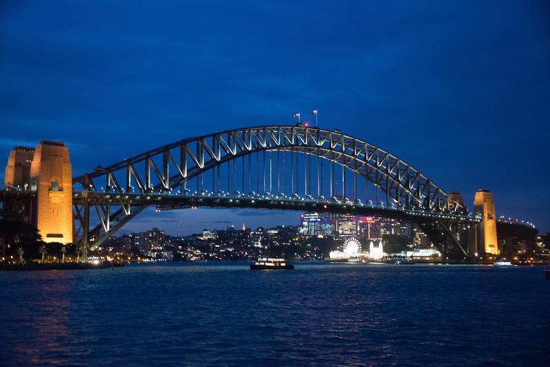 Sydney Harbour Bridge at night-8843