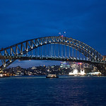 Sydney Harbour Bridge at night-8843
