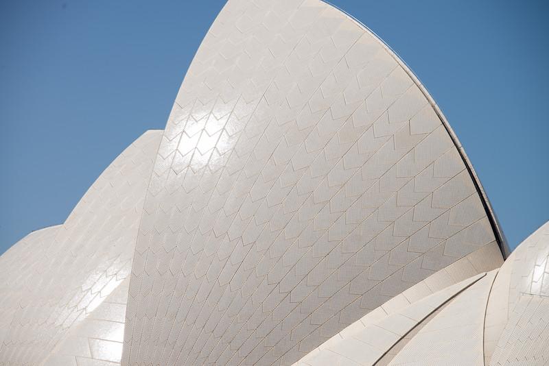 Close up Sydney Opera House