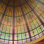 stained glass in Queen Victoria building
