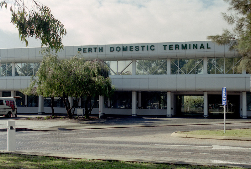 Perth Airport after 3 1/2 hour flight from Melbourne