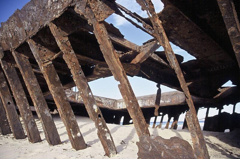Shipwrecked near Frazer island