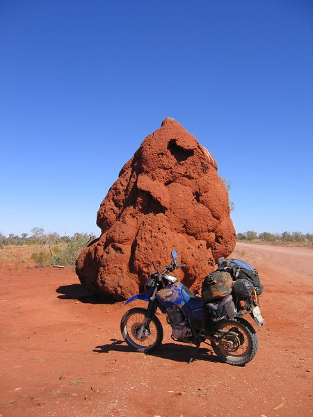 Termite mound. 12 feet of dirt, grass and ant spit.