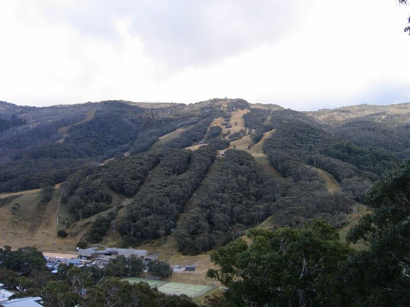 Thredbo Village ski fields. Not quite ready for the season.