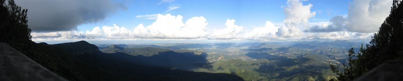 Springbrook overlook. This is NSW as seen from Queensland