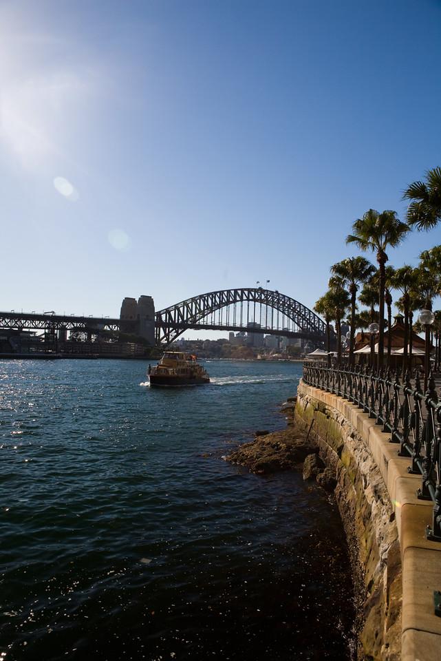 Circular Quay, Sydney Harbor (and bridge)