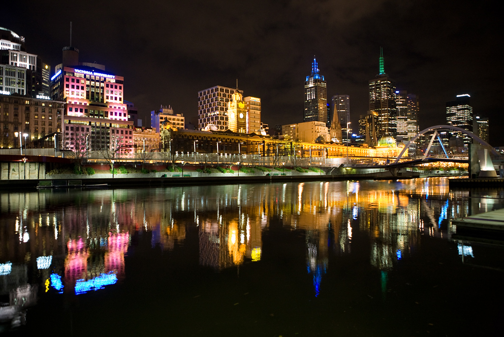 Melbourne Skyline as viewed across the Yarra River