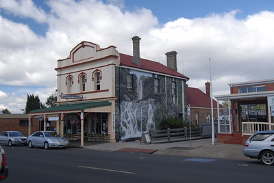 One of several dozen painted scenes on buildings in Sheffield, TAS