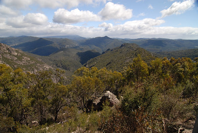 The view from Round Mountain, TAS