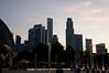 The Singapore sky line