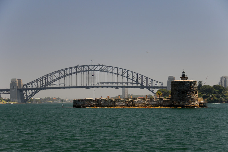 Fort Denison and the Harbour Bridge
