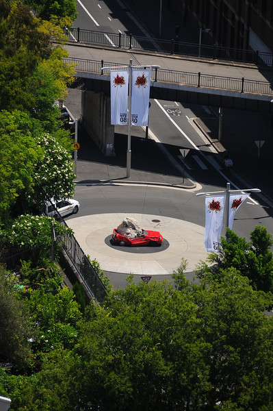 Interesting roundabout decoration