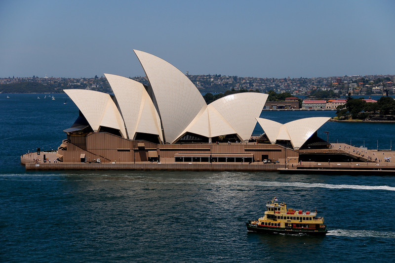 Sydney Opera House from the Harbour Bridge