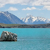 Lake Tekapo and the Southern Alps. The bright blue is from glacial rock flour.