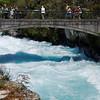 Huka Falls is on the Waikato River, which drains Lake Taupo.