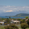 View of Lake Taupo and Southern Alps in distance.