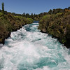 """Huka Falls is on the Waikato River, which drains Lake Taupo.  <br /> <br /> <a href=""""http://www.hukafalls.com/"""">http://www.hukafalls.com/</a>"""